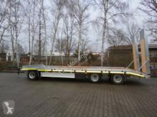 Reboque porta máquinas Möslein 3 Achs Tieflader- Anhänger mit gerader Ladefläc