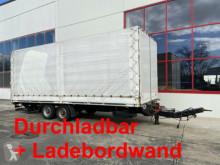Reboque nc Tandem- Planenanhänger. Ladebordwand + Durchlad caixa aberta com lona usado