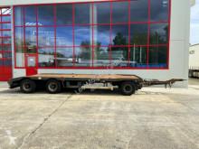 Remorque porte containers occasion Hüffermann 3 Achs Kombi- Tieflader- Anhänger fürAbroll- un
