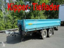 Remorque Humbaur Tandem 3- Seiten- Kipper- Tieflader porte engins occasion