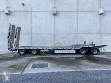 Used heavy equipment transport trailer Möslein 4 Achs Tieflader- Anhänger 2 teiligen hydr. Ram