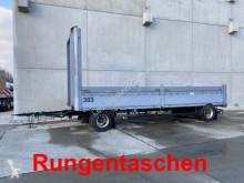 Släp platta häckar begagnad Schwarzmüller 2 Achs Jumbo- Pritschenanhänger mit Rungentasch
