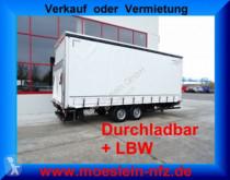 Used tarp trailer Möslein Tandem Planenanhänger mit Ladebordwand 1,5 t un