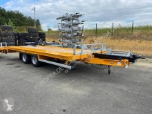 Used heavy equipment transport trailer Gourdon gondola
