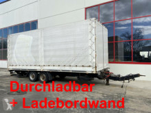 Reboque caixa aberta com lona nc Tandem- Planenanhänger. Ladebordwand + Durchlad
