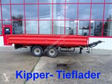 Remolque Müller-Mitteltal Tandemkipper- Tieflader volquete usado