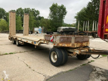 Müller-Mitteltal 3-Achs Tieflader Rampe Zwillingsbereifung Blatt trailer used heavy equipment transport