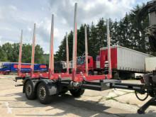 Reboque transporte de madeira Tandem Holz Anhänger 4-Mal Rungen D7 Luft Gurken
