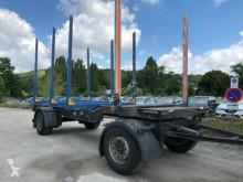 Reboque transporte de madeira Holz Anhänger 2-Achse 4Rungen Leergewicht 3050kg