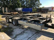 Reboque Krone Tandem ANH Zwillingsbereifung Palletenkasten chassis usado