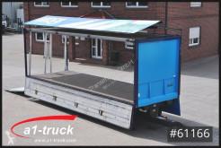 Krone beverage delivery flatbed trailer ZZ 18, Ewers Schwenkwand, LBW Bär 2500kg, ALU