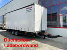 Reboque Möslein Tandem- Planenanhänger,Durchladbar + LBW caixa aberta com lona usado