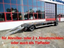 Remolque portacontenedores Möslein 2 Achs Kombi- Tieflader- Anhänger fürAbroll- un