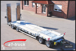 Humbaur heavy equipment transport trailer HTD 40 , hydr. Rampen Stützen, Luft, verzinkt. 21 tkm !!