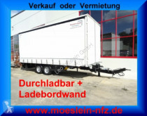 Reboque caixa aberta com lona Möslein Tandem Planenanhänger mit Ladebordwand 1,5 t un