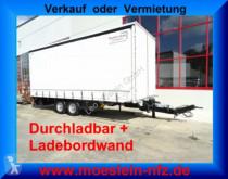 Reboque Möslein Tandem Planenanhänger mit Ladebordwand 1,5 t un caixa aberta com lona usado