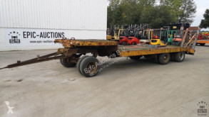 3-assige trailer used dropside flatbed