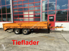 Obermaier Tandemtiefladeranhänger trailer used heavy equipment transport