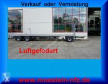 Reboque estrado / caixa aberta caixa aberta Möslein 3 Achs Jumbo- Plato- Anhänger, 10,5 m Ladefläch