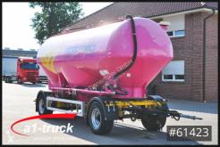 Römork tank tozdan oluşan/toz halinde ürünler Feldbinder HEUT 31.2, Silo, Futter 3 Kammern TÜV 07/2021