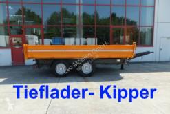 Remorca trilaterala 14 t Tandemkipper- Tieflader