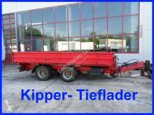 18 t Tandemkipper- Tieflader trailer used three-way side
