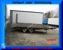 Tandemtieflader trailer used heavy equipment transport