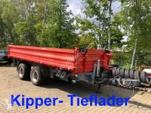 Remolque volquete volquete trilateral Möslein 19 t Tandemkipper- Tieflader