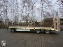 Möslein 3 Achs Tieflader- Anhänger mit gerader Ladefläc trailer used heavy equipment transport