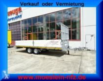 Möslein heavy equipment transport trailer Tandem- Pritschenanhänger mit Gitteraufsatz