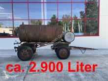 Tanker trailer 2 Achs Wasserfass Anhänger ca. 2.900 Liter