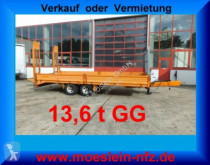 13,6 t Tandemtieflader trailer used heavy equipment transport