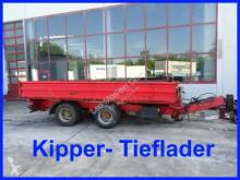 Remolque volquete volquete trilateral 18 t Tandemkipper- Tieflader