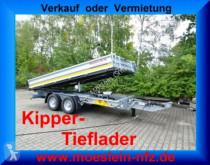 Remolque volquete volquete trilateral Möslein 13 t Tandem 3- Seitenkipper Tieflader-- Neufahr