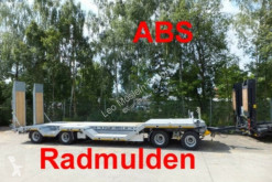 Möslein heavy equipment transport trailer 4 Achs Tieflader mit Radmulden, ABS