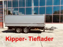 Möslein Tandemkipper- Tieflader trailer used three-way side