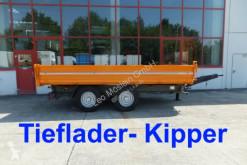 Three-way side trailer 14 t Tandemkipper- Tieflader
