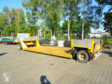 Fliegl 2 Achs Tiefbett- Tiefladeranhänger trailer used heavy equipment transport