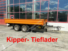 Müller-Mitteltal 13,5 t Tandemkipper- Tieflader trailer used three-way side