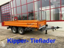Remolque Müller-Mitteltal 13,5 t Tandemkipper- Tieflader volquete trilateral usado
