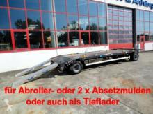 Remorque porte containers Möslein 2 Achs Kombi- Tieflader- Anhänger fürAbroll- un