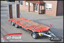Rimorchio trasporto macchinari Schwarzmüller 3-achs Tiefladeanhänger mech Rampen