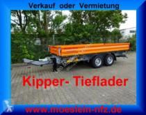 Remolque Möslein Tandem Kipper Tieflader-- Neufahrzeug -- volquete trilateral usado