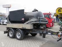 Remolque cisterna gránulos / polvo Hüffermann Tandemanhänger HTM 11-SD Saug + Spülwagen
