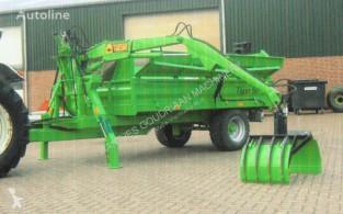 Monocoque dump trailer Kipper met opbouwkraan