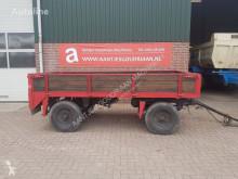 Remolque agrícola Wagen volquete con cortina usado