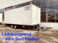 Möslein box trailer Tandem Koffer, Ladebordwand und Durchladbar