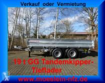 Remolque Möslein 19 t Tandem- 3 Seiten- Kipper Tieflader volquete volquete trilateral usado