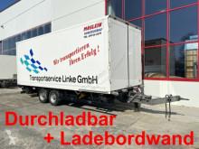 Möslein Tandem Koffer mit Ladebordwand 1,5 t und Durchl trailer used box