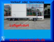 Möslein 3 Achs Jumbo- Plato- Anhänger 9 m, Mega trailer used flatbed